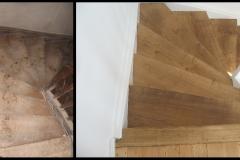 Renovierung Treppe vorher - nachher